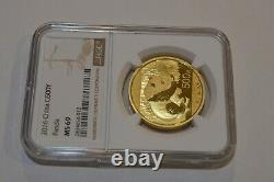 2016 30 gram Chinese Gold Coin Panda 500 Yuan NGC MS 69