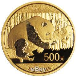 2016 500 Yuan Gold Chinese Panda. 999 30 Gram BU