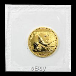 2016 China 8 gram Gold Panda BU (Sealed) SKU #92375