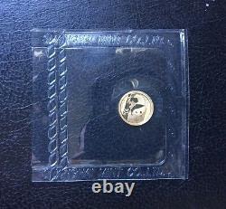 2016 Gold Panda Coin 1 Gram Struck From Shanghai Mint, Seal