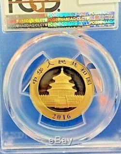 2016 Panda. 999 Gold 15 Gram 200 Yn PCGS MS70