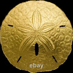 2017 $1 Palau, 1gram 9999 GOLD Coin'SAND DOLLAR' withCapsule and COA