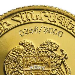 2017 Armenia 1 gram Gold 100 Dram Noah's Ark Proof SKU #132874