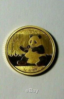 2017 China 3 Gram. 999 Fine Gold Proof Panda Coin in Capsule Very Nice