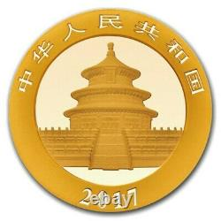 2017 China 3 Gram Gold Panda BU Sealed