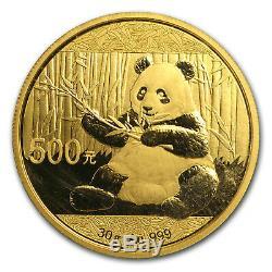 2017 China 30 gram Gold Panda BU (Sealed) SKU #104526