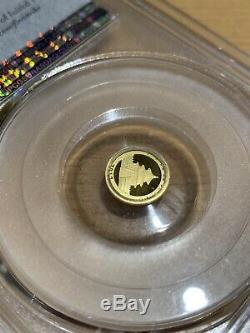 2017 China Panda 10 Yn 1g Gold Coin First Strike PCGS MS69 1 gram