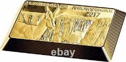 2017 Fiji 5 grams Gold Bar 5 Coin South African Springbok Collection Set