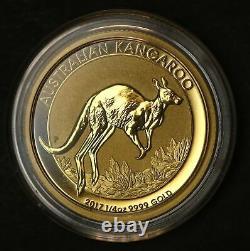 2017 Kangaroo 1/4 oz 7.8 gram Gold Bullion. 9999 Coin in Capsule (LB80)