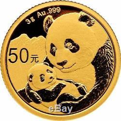 2019 3 Gram Chinese Gold Panda Coin BU