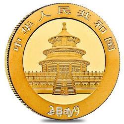 2019 30 gram Chinese Gold Panda 500 Yuan. 999 Fine BU (Sealed)