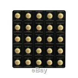 2020 25 x 1 gram Canadian Gold Maples $. 5 Coin. 9999 Fine Maplegram25 In