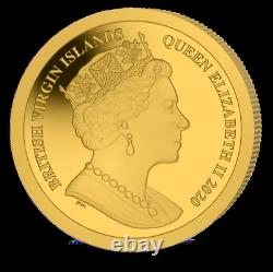 2020 BVI $4 Mayflower 400th Ann. 0.5 gram Gold Proof Coin Mintage of 99