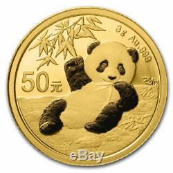 2020 China 3 gram Gold Panda BU (Sealed) SKU#208670