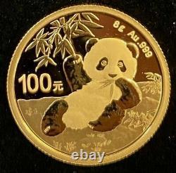 2020 Chinese Panda, 8 gram Gold Coin