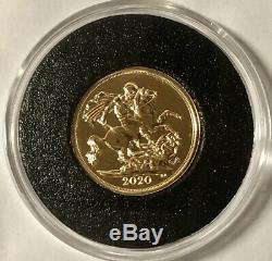 2020 Gold Sovereign, Full Sovereign Bullion Coin, 7.98 Grams Of 22 Carat Gold