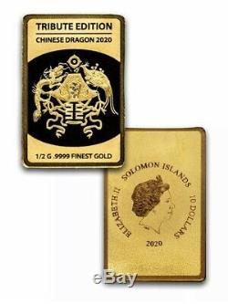 2020 Solomon 6-Bar Coin Chinese China Dragon Set BOX COA 1/2 gram Gold Each Bar
