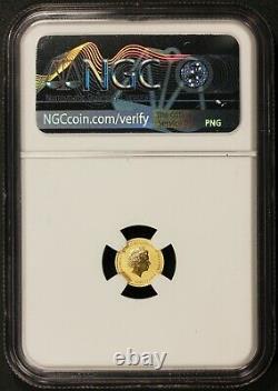 2020 Tuvalu $2 James Bond 007 0.5 gram. 9999 Gold Coin NGC MS 70