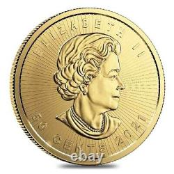 2021 25 x 1 gram Canadian Gold Maples $. 5 Coin. 9999 Fine Maplegram25 In
