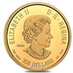 2021 Canada 35 gram Proof Gold Coin The Caribou Wildlife Portraits. 99999 Fine