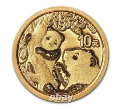 2021 China 1 gram. 999 Gold Panda Coin Sealed in Mint Plastic OMP SKU# A11D
