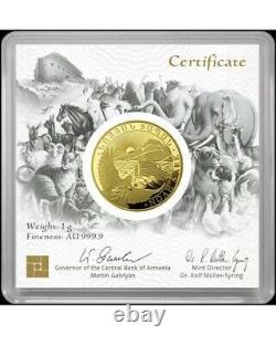 2021 Noahs Ark Geiger 1 Gram Gold