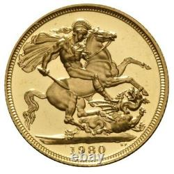 22.05mm 7.98 gram Royal Mint Proof Gold Sovereign Grade B