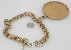 22K YG & 18K YG 50 Peso Coin Bracelet 65.05 Grams
