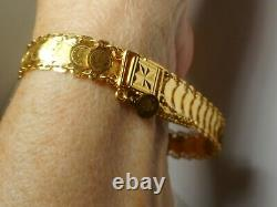 22k 916 Gold Mini Coin Bracelet 17.2 grams