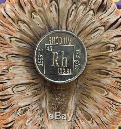 3 Rhodium Coins 5.3 Grams Each. 999 Pure Rh Bullion Not Bar Over 1/2 Oz Total