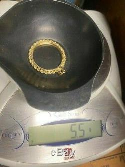 5.5 grams Scrap or Not 14K Screw Top Rope Coin Bezel fits 1 oz. American Eagle