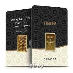 5 Gram Istanbul Gold Refinery (IGR) Bar In Assay