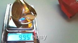 $5 Walking Liberty 22k gold coin with9.95 gram 14k y/gold size 10 ring