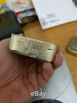 899 Grams Scrap Gold Bar for Gold Recovery Melted Different Computer Coin Pins