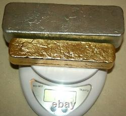 980 Grams Gold And Silver For Recovery Melted Drops Plated Scrap Pins Cpu Coin