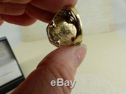 9ct 9carat Yellow Gold George & Dragon'Coin' Ring, 5.5 grams Size R