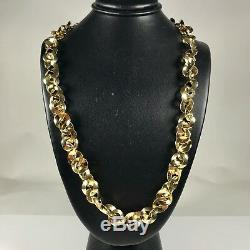 Amazing Roberto Coin Necklace Crafted Heavy 18k Gold 34.1 Grams 18 Long