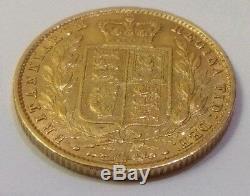 Antique Gold Coin 1857 Queen Victoria. Weigh 7.9 gram