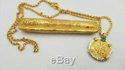 Atocha Gold Bar 82A-3958 662.9 grams Treasure Escudos Fleet by Shipwreck Coins