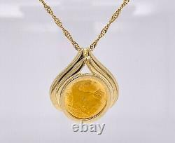 Australian 1/25 Ounce Gold Coin In 14k Bezel 4.1 Grams