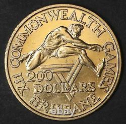 Australian 22ct 10 Grams Gold $200 Dollar Coin 1982 Brisbane Commonwealth (lb46)