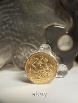 Australian Sovereign 1872 Sydney Gold Coin 7.96 Gram Diameter 22 MM St George