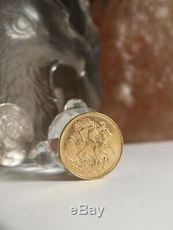Australian Sovereign 1900 Melbourne Gold Coin / 7.98 Gram Diameter 21 MM