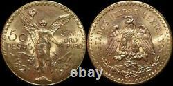 BU 1947 Mexico 50 Pesos Libertad Gold Coin 1.2057 ounces 37.5 Grams Restrike