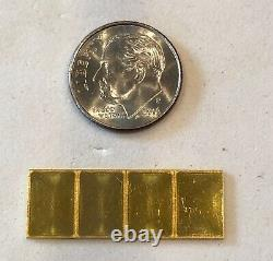 Buy It Now-4- 1 Gram, Valcambi Bars, 999.9 Fine Gold Combi Bar