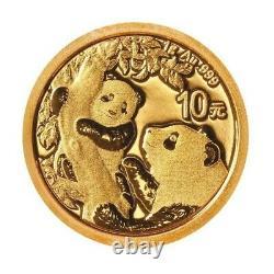 CHINE 10 Yuan Or 1 gramme Panda 2021