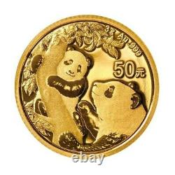 CHINE 50 Yuan Or 3 grammes Panda 2021