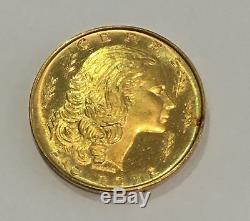 Ceres FAO Rome Vatican Token Gold Coin 7.775 grams Rare Foreign Proof Like