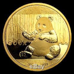 China 30 gram Gold Panda BU (Not Sealed) SKU #96309