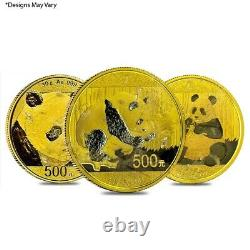Chinese 30 gram Gold Panda. 999 Fine (Random Year, Abrasions)